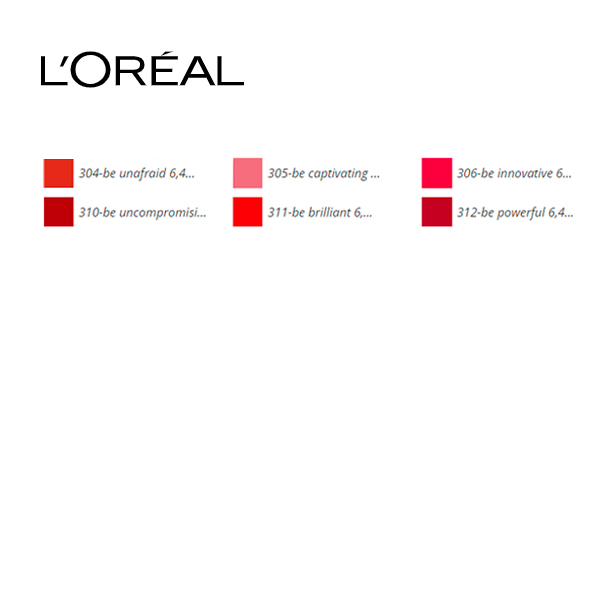 Lesk na rty Brilliant Signature L'Oreal Make Up (6,40 ml) - 313-be rebellious 6,40 ml